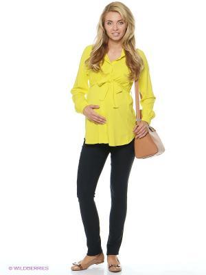 Блузка для беременных и кормящих ФЭСТ. Цвет: желтый