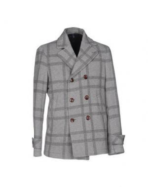 Пальто DOMENICO TAGLIENTE. Цвет: серый