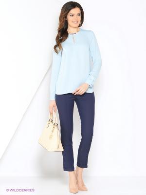 Блузка Top Secret. Цвет: голубой