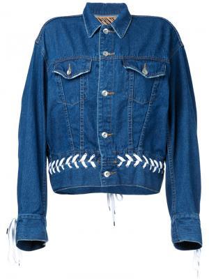 Denim shoe lace up jacket G.V.G.V.. Цвет: синий