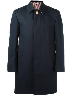 Классическое пальто Thom Browne. Цвет: синий