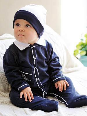 Комбинезон Lucky Child. Цвет: темно-синий, белый