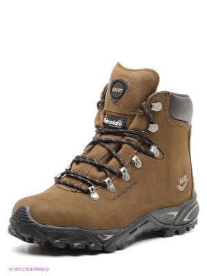 Ботинки Ascot. Цвет: темно-коричневый