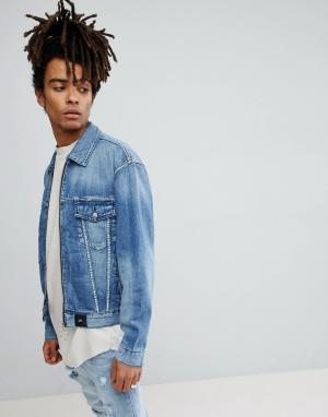 Sixth June Синяя джинсовая куртка с потертостями. Цвет: синий