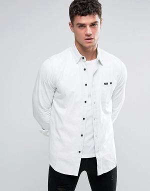RVCA Выбеленная джинсовая рубашка. Цвет: темно-синий
