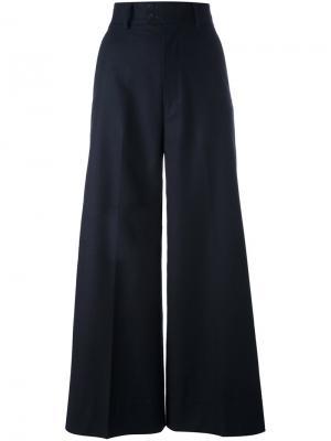 Wide-legged cropped trousers 08Sircus. Цвет: синий