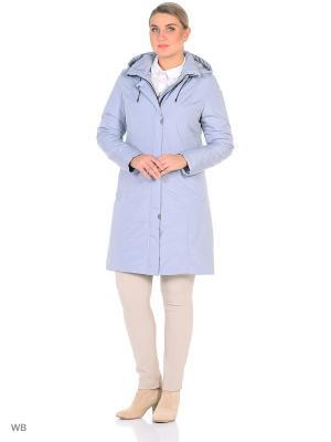 Пальто Maritta. Цвет: серо-голубой