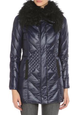 Куртка с застежкой на молнию и кнопки Tru Trussardi. Цвет: темно-синий