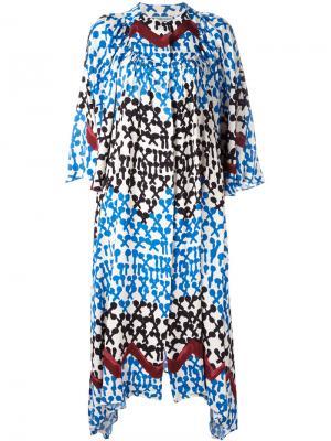 Платье шифт с абстрактным узором Tsumori Chisato. Цвет: многоцветный