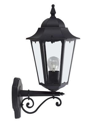 Уличный настенный светильник 40981/06 Brilliant. Цвет: черный