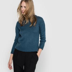 Пуловер с круглым воротником La Redoute Collections. Цвет: серый жемчужный,сине-зеленый