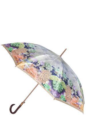 Зонт-трость Eleganzza. Цвет: синий, бежевый, сиреневый
