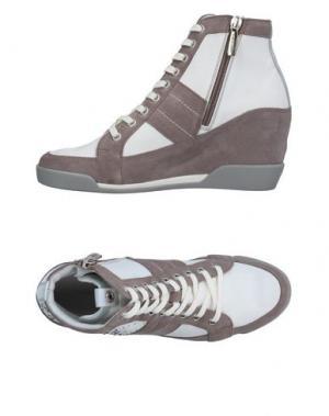 Высокие кеды и кроссовки JANET SPORT. Цвет: голубиный серый