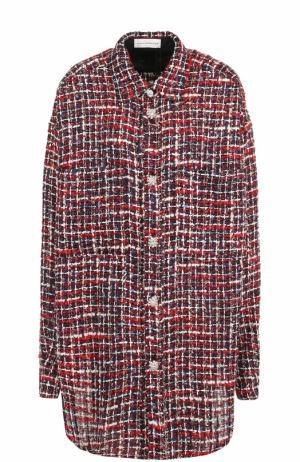 Буклированная блуза свободного кроя Faith Connexion. Цвет: красный