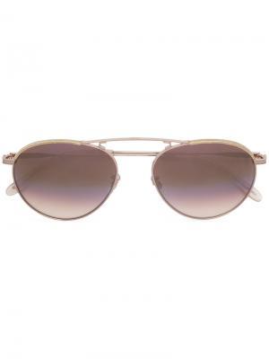 Солнцезащитные очки Innes Garrett Leight. Цвет: металлический