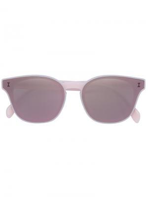 Солнцезащитные очки формы кошачий глаз Illesteva. Цвет: розовый и фиолетовый