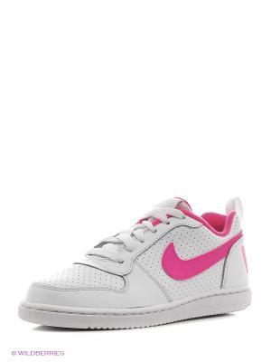 Кеды NIKE COURT BOROUGH LOW (PS). Цвет: белый, розовый