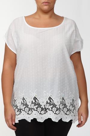 Блузка LA VELINA. Цвет: кремовый