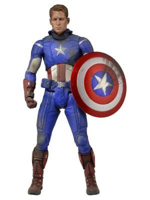 Фигурка Avengers 18 Captain America (Battle Damaged) Neca. Цвет: синий, белый, красный