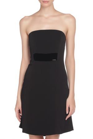 Мини платье-бандо Liu Jo. Цвет: черный