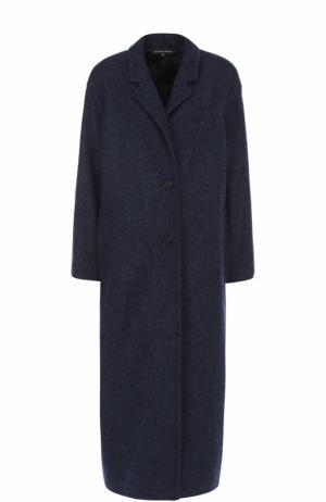 Шерстяное пальто прямого кроя Alexander Terekhov. Цвет: синий