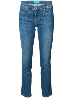 Джинсы с лампасами Jean-Paris Mih Jeans. Цвет: синий