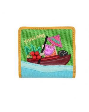Бумажник TUA BY BRACCIALINI. Цвет: зеленый