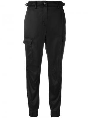 Укороченные брюки с карманами Jeremy Scott. Цвет: чёрный