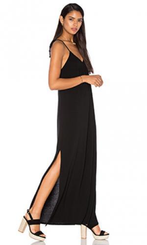 Макси платье molly LA Made. Цвет: черный