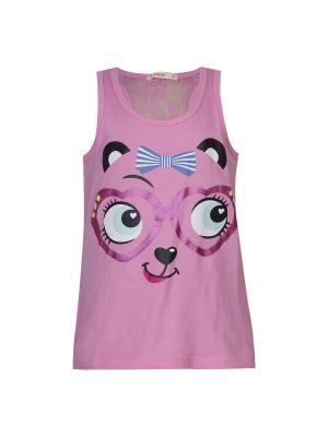 Майка-топ для девочек FOX. Цвет: розовый