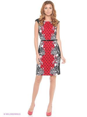 Платье London Times. Цвет: красный