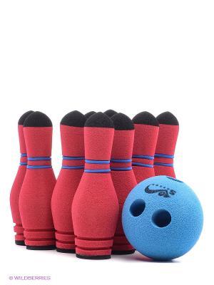 Игра Мини Боулинг 10 кеглей в сумке Активные игры Saf Sof. Цвет: красный