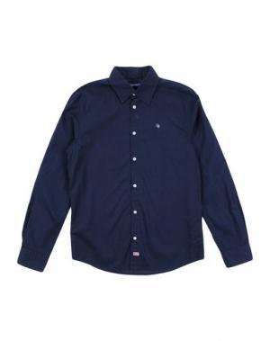 Pубашка COTTON BELT. Цвет: темно-синий