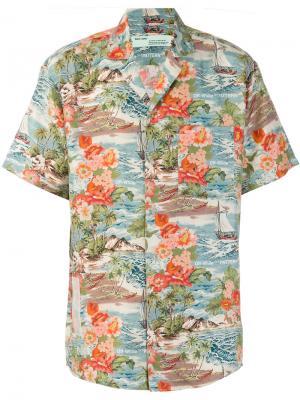 Рубашка с тропическим принтом Off-White. Цвет: многоцветный