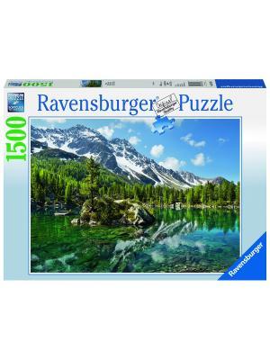 Пазл  Волшебная гора 1500 шт Ravensburger. Цвет: голубой, зеленый, коричневый