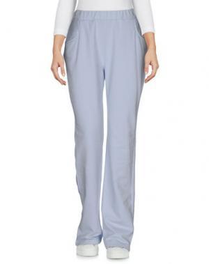 Повседневные брюки LA FABBRICA DEL LINO. Цвет: небесно-голубой