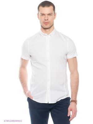 Рубашка Oodji. Цвет: белый