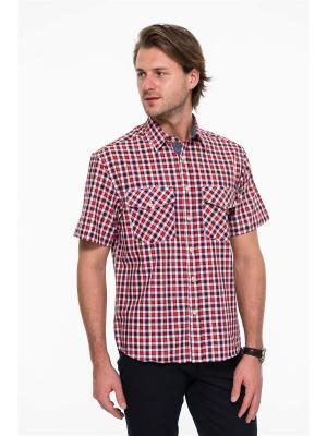 Рубашка Westrenger. Цвет: синий, белый, красный