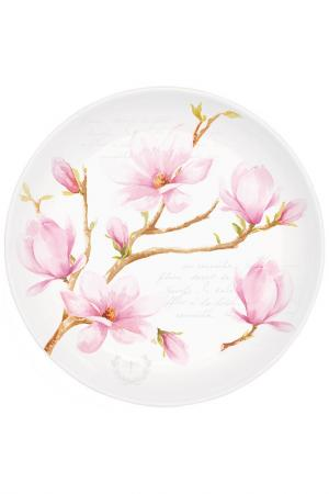 Десертная тарелка Nuova R2S S.p.A.. Цвет: розовый, белый