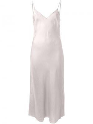 Платье-миди на бретельках Organic By John Patrick. Цвет: телесный