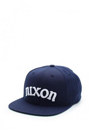 Бейсболка Nixon. Цвет: синий
