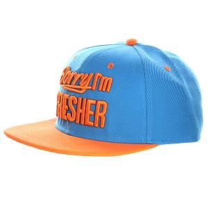 Бейсболка  Sorry I am Fresher Turquoise/Orange TrueSpin. Цвет: голубой,оранжевый