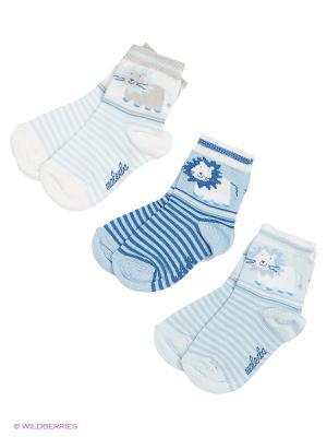 Носки Malerba. Цвет: белый, голубой