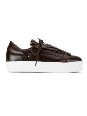 Кроссовки с бахромой Sarah Chofakian. Цвет: коричневый