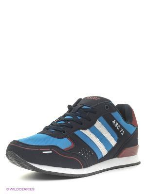 Кроссовки Ascot. Цвет: синий, красный, темно-синий