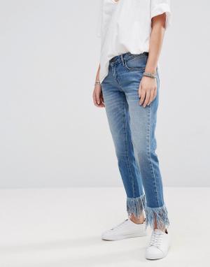 Only Укороченные джинсы. Цвет: синий
