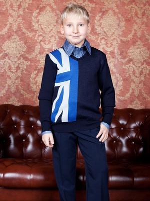 Пуловер 80 LVL. Цвет: темно-синий