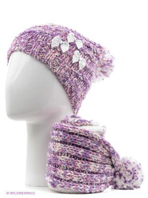 Шапка+шарф Marhatter. Цвет: сиреневый