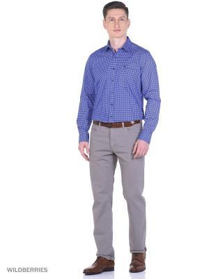 Рубашка Boston Brothers. Цвет: синий, голубой