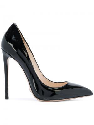Туфли с заостренным носом Gianni Renzi. Цвет: чёрный
